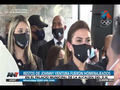 Restos de Johnny Ventura fueron homenajeados
