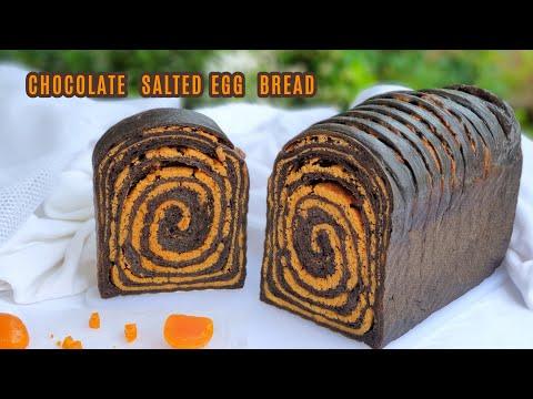 ขนมปังช็อคโกแลตไส้ไข่เค็ม-Choc