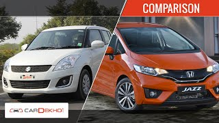 Maruti Suzuki Swift vs 2015 Honda Jazz   Comparison Video   CarDekho.com