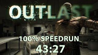 Outlast Speedrun 100% 43:27 (PC) (old WR)