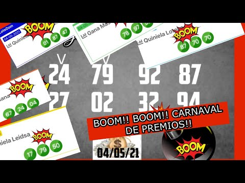 BOOM!! BOOM!! CARNAVAL DE PREMIOS EL 87 EN LOTERIA LOTEKA, y 79 , 97, 24  MULTIPLES LOTERIAS !!!