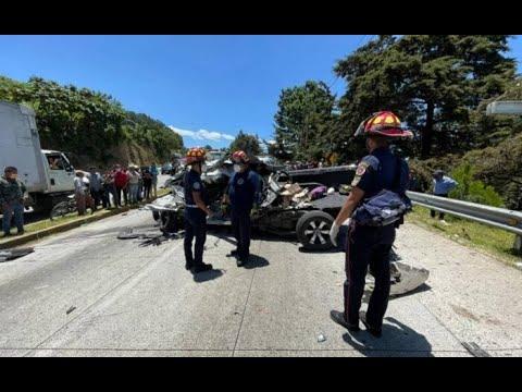 Cinco fallecidos y dos heridos dejó colisión en Ruta Interamericana