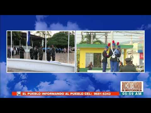 """Con fervor SPS conmemora el #BicentenarioHonduras en la """"105 Brigada"""""""