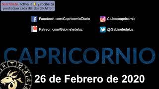 Horóscopo Diario - Capricornio - 26 de Febrero de 2020
