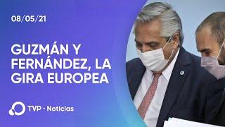 Gira europea: el Presidente y Guzmán buscan apoyo por la deuda