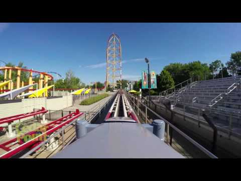Film z jazdy rollercoasterem Top Thrill Dragster w Cedar Point (Sandusky, Ohio, USA)