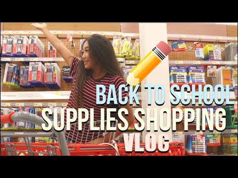 BACK TO SCHOOL SUPPLIES SHOPPING 2017!! VLOG