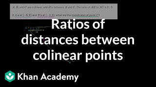 Ratios of distances between colinear points
