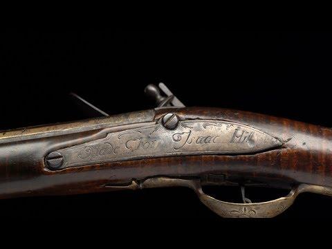 Revolutionary War Soldier Isaac Hill & His Medad Hills Flintlock Musket