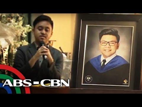Bandila: Horacio Castillo III, inalala ng mga kaibigan sa eulogy