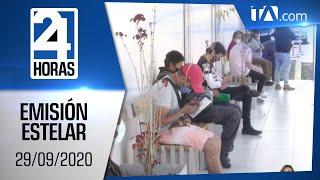 Noticias Ecuador: Noticiero 24 Horas, 29/09/2020 (Emisión Estelar)