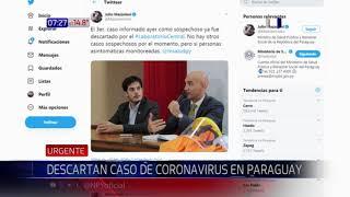 Descartan caso de coronavirus en Paraguay