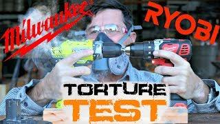 RYOBI VS MILWAUKEE Cordless Drill Torture Test