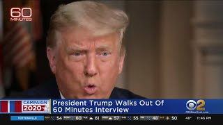 President Trump Walks Out Of '60 Minutes' Interview