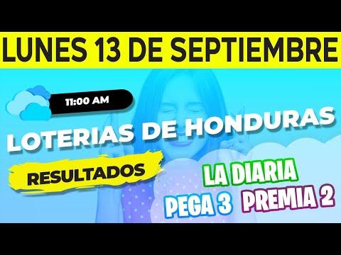 Sorteo 11AM Loto Honduras, La Diaria, Pega 3, Premia 2, Lunes 13 de Septiembre del 2021 | Ganador