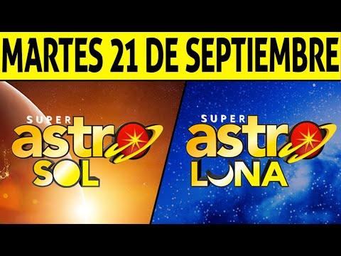 Resultados ASTRO SOL y ASTRO LUNA del Martes 21 de Septiembre de 2021   SUPER ASTRO