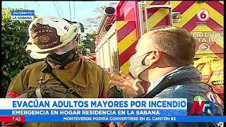 Evacúan hogar de adultos mayores en La Sabana por incendio