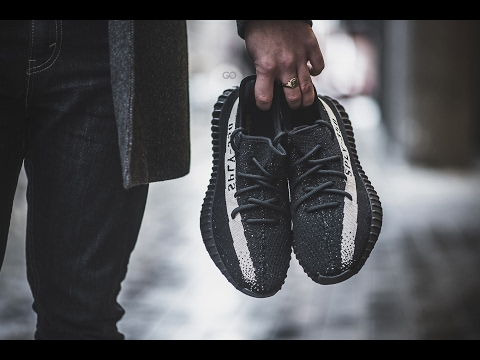 aefccf41985 ... germany download youtube to mp3 review on feet adidas yeezy boost 350  v2 black white 9c2f2
