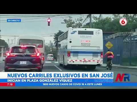 Habilitan dos nuevos carriles exclusivos en San José