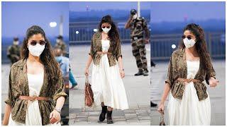 Actress Keerthy Suresh Exclusive Visuals @ Hyderabad Airport | Celebrities Airport Videos | TFPC - TFPC