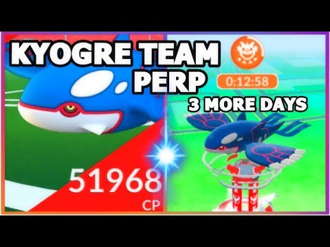 connectYoutube - KYOGRE RAID TEAM SET UP IN POKEMON GO   KYOGRE BLIZZARD & HYDRO PUMP TEAM COUNTERS