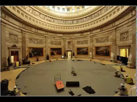 Time Lapse of Rotunda Floor & Art Protection 2015