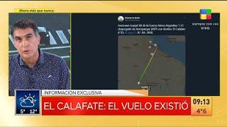Información exclusiva del viaje del Tango 11, el avión presidencial, a El Calafate