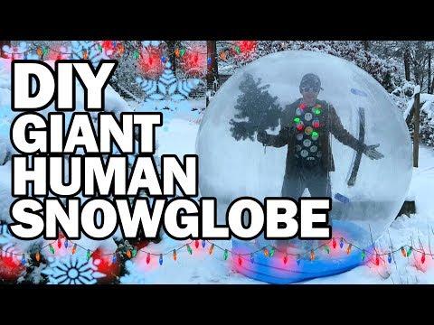 connectYoutube - DIY Giant Human Snow Globe!!! - Man Vs Madness