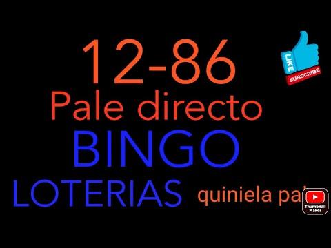 NUMEROS PARA HOY(12-86)bingazo pale directo ,tamos dando duro