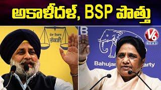 Akali Dal, BSP Party Form Alliance Ahead Of Punjab Polls | V6 News - V6NEWSTELUGU