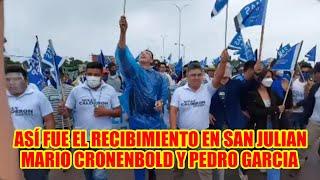 MARIO CRONENBOLD Y PEDRO GARCIA FUE RECIBIDÓ POR UNA MULTITUD EN SAN JULIAN...