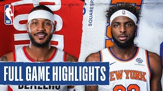 TRAIL BLAZERS at KNICKS | FULL GAME HIGHLIGHTS |  January, 1 2020