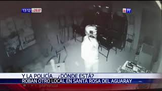 Policía Nacional invisible en Santa Rosa del Aguaray