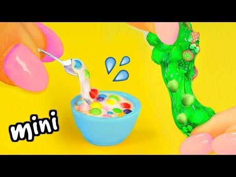 connectYoutube - DIY Mini Slimes! How To Make Miniature Jelly Cube Slime, Cereal Slime, Cloud Slime & Glitter Slime!