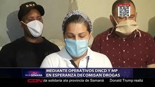 Mediante operativos DNCD y MP en Esperanza decomisan drogas