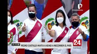 Segunda Vuelta: Pedro Castillo invitó a Keiko Fujimori a recorrer el país