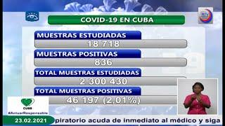 Confirman en Cuba 836 nuevos casos positivos con la Covid-19