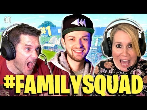 OMG Ali-A Taught My Mum & Dad to play Fortnite!! (Family Gaming with Vodafone UK)