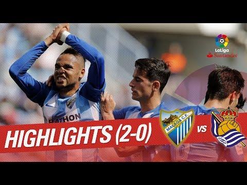 Resumen de Málaga CF vs Real Sociedad (2-0)