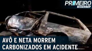 BH: motorista embriagado atinge carro e mata avô e neta carbonizados | Primeiro Impacto (19/01/21)