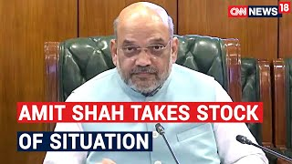 Home Minister Amit Shah Takes Stock Of Situation In Maharashtra & Gujarat On Cyclone Nisarga - IBNLIVE