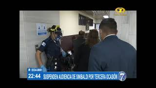 Por tercera vez se suspende la audiencia de primera declaración de Alejandro Sinibaldi