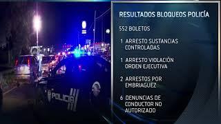 Expiden más de 500 multas en primeros bloqueos policiales