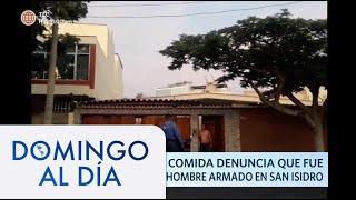 Repartidor de comida denuncia que fue atacado por un hombre en San Isidro | Domingo Al Día