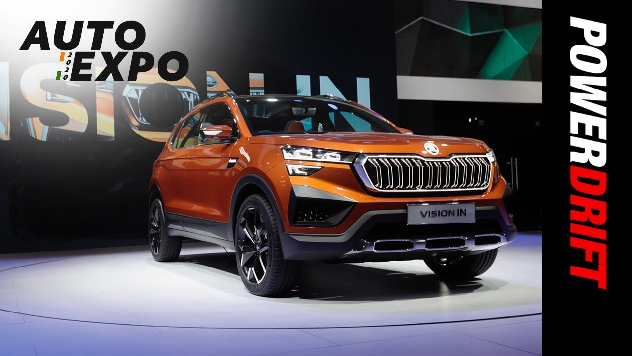 Skoda Vision IN Compact SUV | Conceptualise This | 2020 Auto Expo I PowerDrift