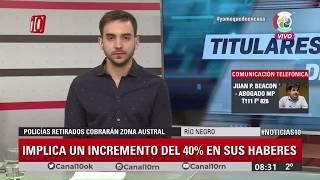 #Noticias10   Policias retirados de Río Negro cobrarán