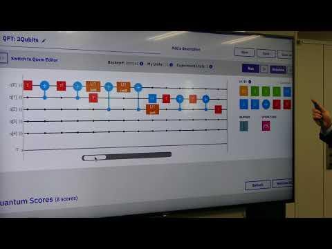「IBM Q」の「Composer」を使って量子フーリエ変換を行う様子