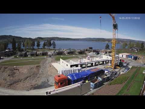 8-mannsbolig i massivtre i Strandvegen, Brumunddal tar form