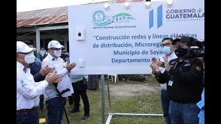 Presidente Giammattei inaugura proyecto de electrificación rural