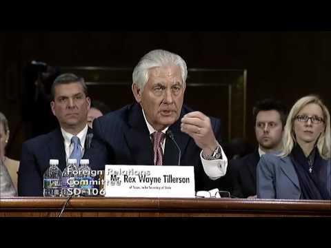 Rubio discusses importance of moral clarity in Rex Tillerson nomination hearing